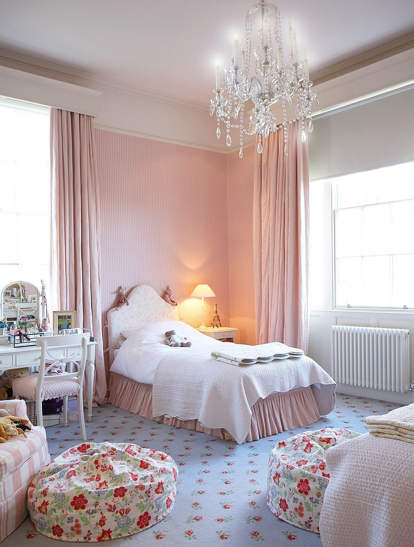 Pink Shabby Chic Bedroom  30 Creative and Trendy Shabby Chic Kids' Rooms