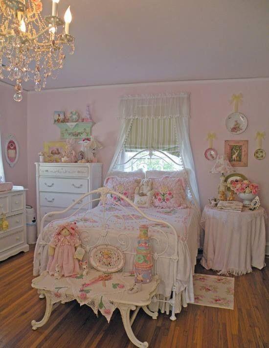 Pink Shabby Chic Bedroom  Feminine Shabby Chic Bedroom Interior Ideas and Examples