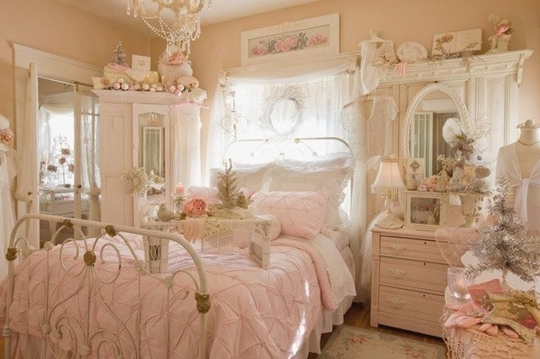 Pink Shabby Chic Bedroom  Shabby chic bedroom decor – create your personal romantic