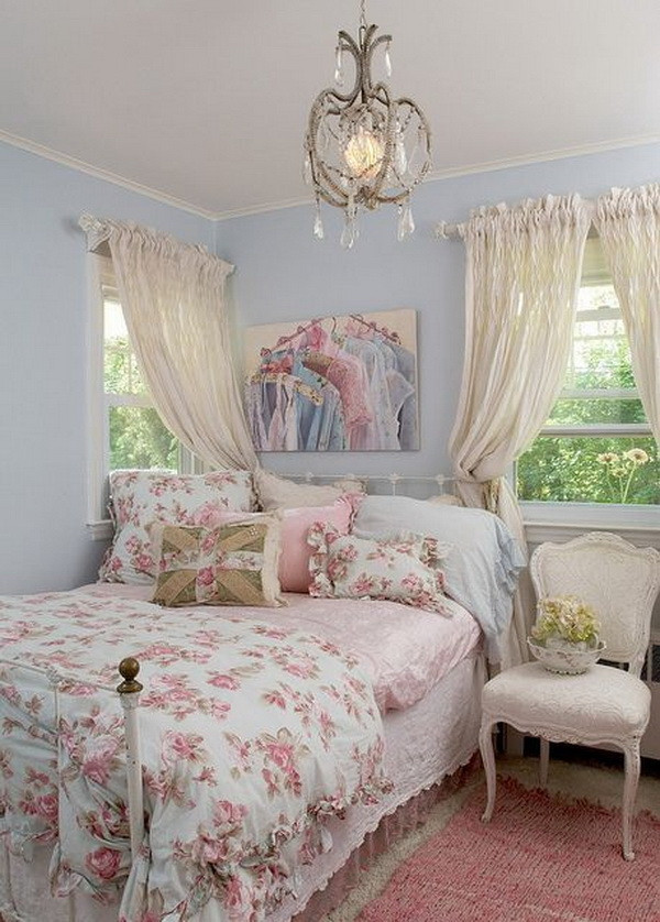 Pink Shabby Chic Bedroom  30 Cool Shabby Chic Bedroom Decorating Ideas For
