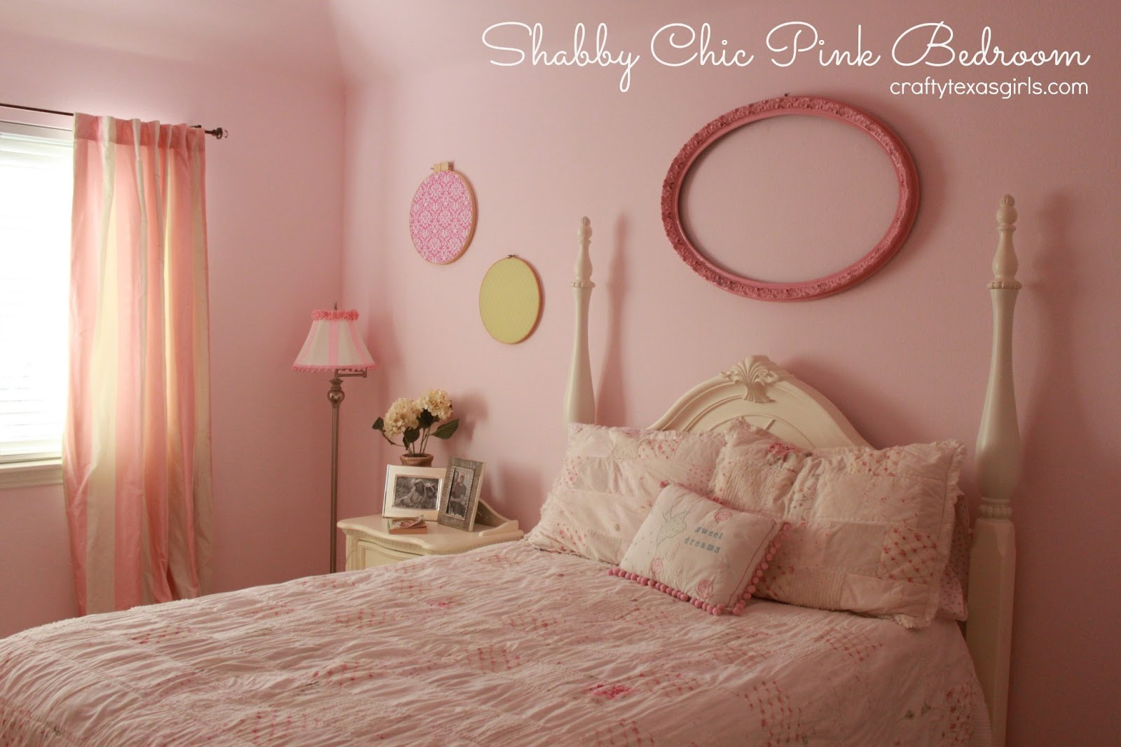 Pink Shabby Chic Bedroom  Crafty Texas Girls Pretty in Pink Shabby Chic Bedroom