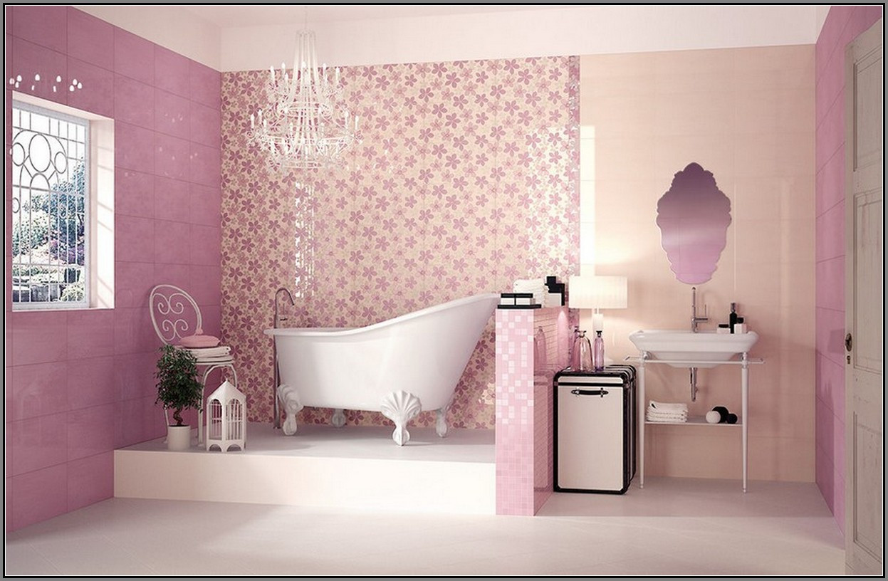 Pink Tile Bathroom Decorating Ideas Awesome 40 Vintage Pink Bathroom Tile Ideas and Pictures