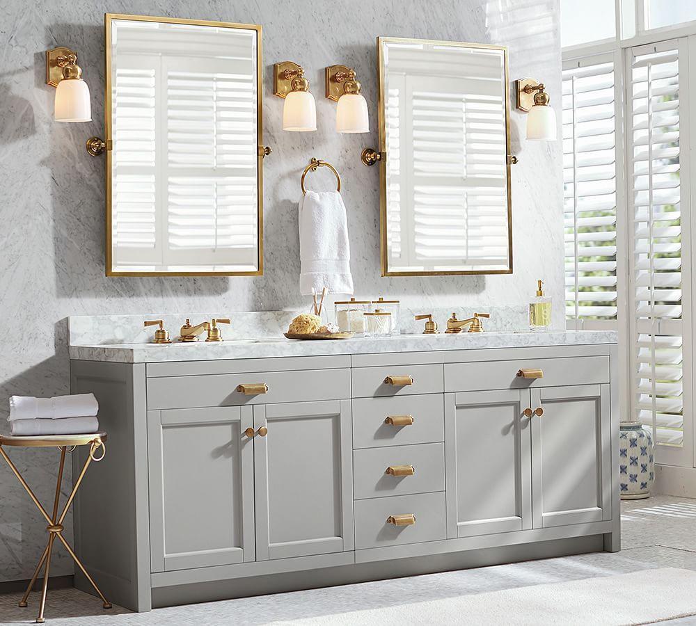 Pivoting Mirror Bathroom  Kensington Pivot Rectangular Mirror