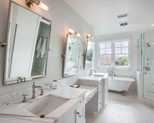 Pivoting Mirror Bathroom  Rock Your Reno with These 11 Bathroom Mirror Ideas