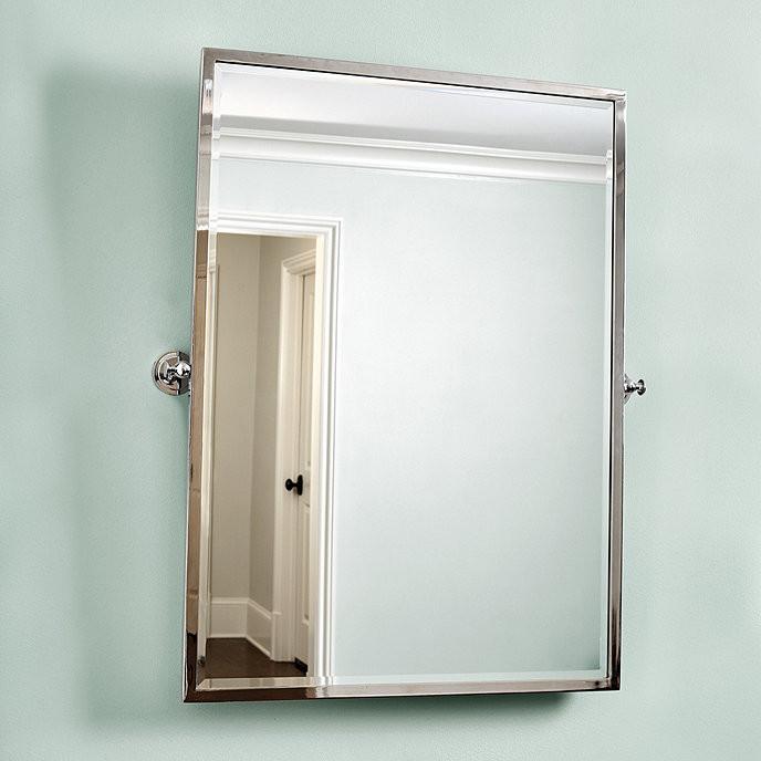 Pivoting Mirror Bathroom  Amelie Rectangular Pivot Mirror