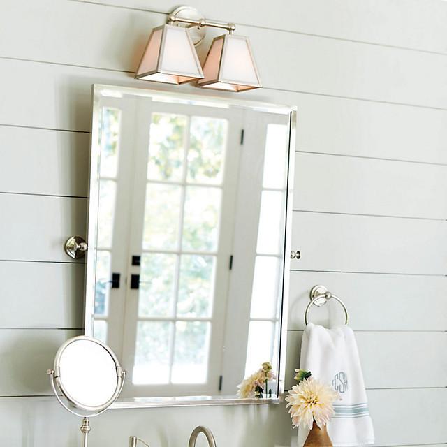 Pivoting Mirror Bathroom  Amelie Rectangular Pivot Mirror Traditional Bathroom