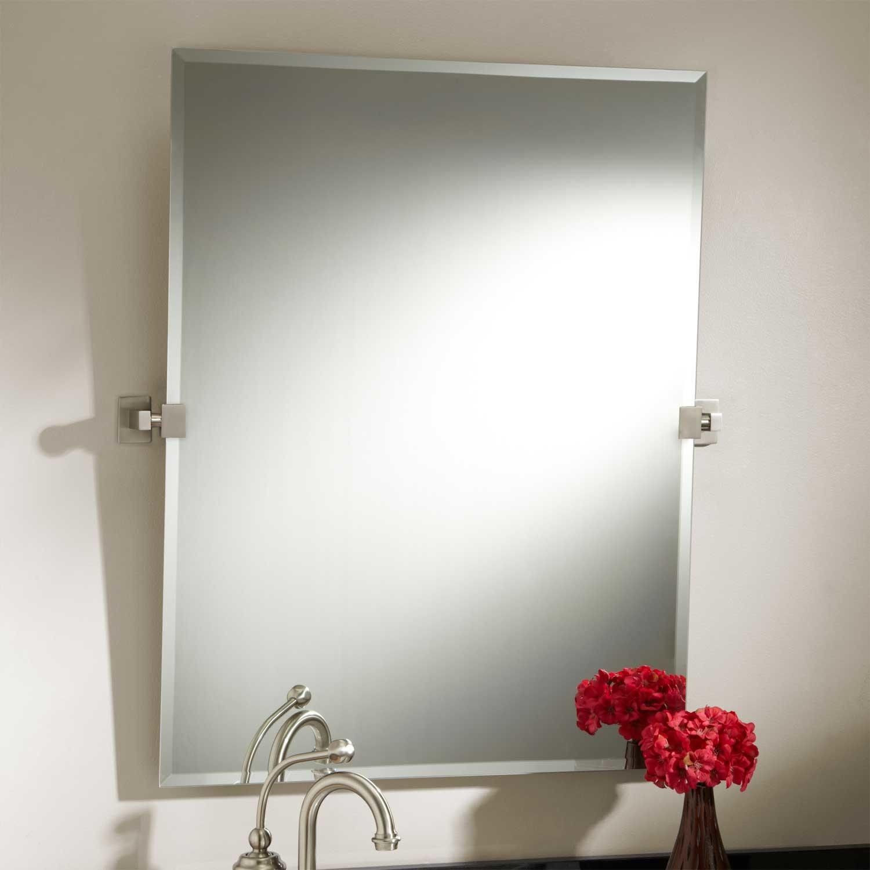 Pivoting Mirror Bathroom  Contemporary Bathroom Pivot Mirror Layout Home Sweet