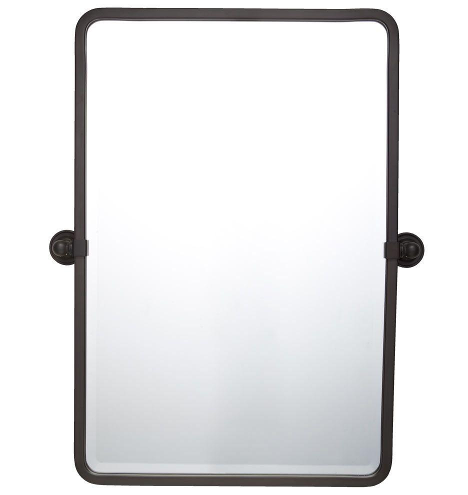Pivoting Mirror Bathroom  Landry Pivoting Rounded Rectangle Mirror