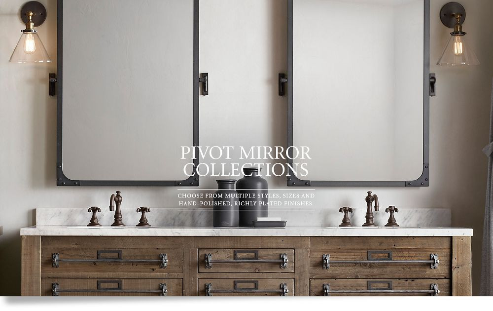 Pivoting Mirror Bathroom  Pivot Mirrors