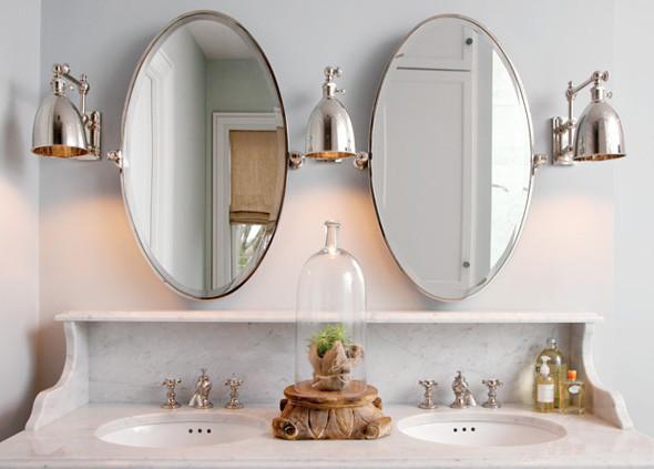 Pivoting Mirror Bathroom  Oval Pivot Mirrors Transitional bathroom Capital Style