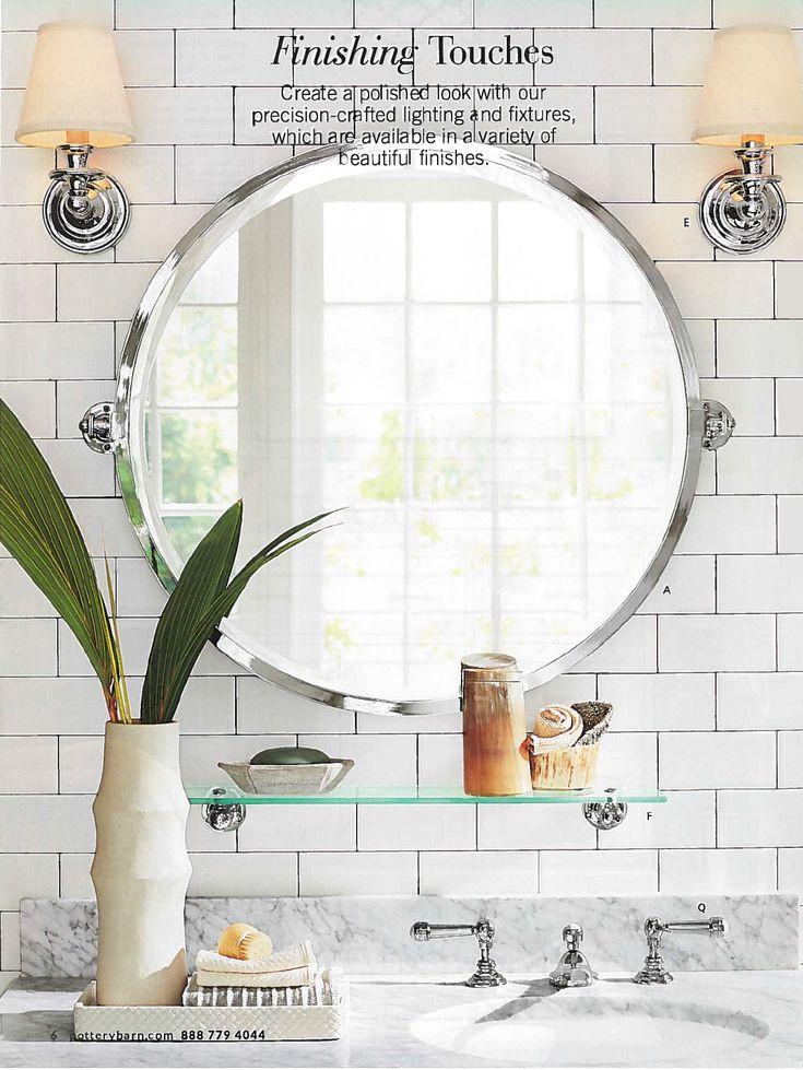 Pivoting Mirror Bathroom  Kensington Round Pivot Mirror