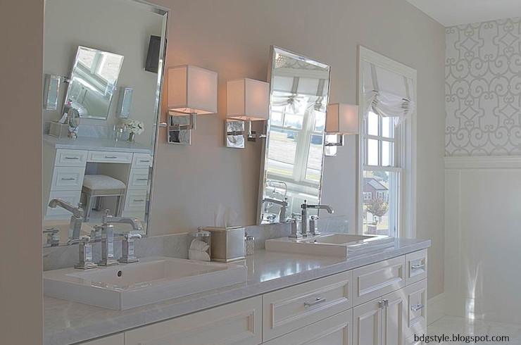 Pivoting Mirror Bathroom  Rectangular Pivot Mirrors Transitional bathroom Belmont