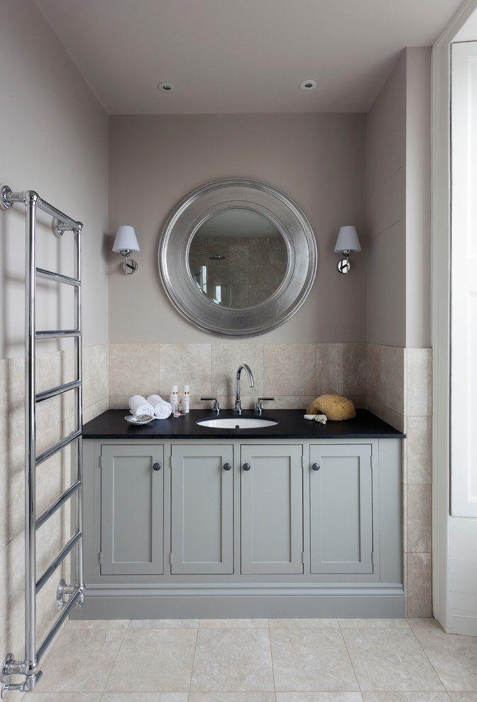 Pivoting Mirror Bathroom  Cornwall bathroom pivot mirrors Bathroom Traditional with