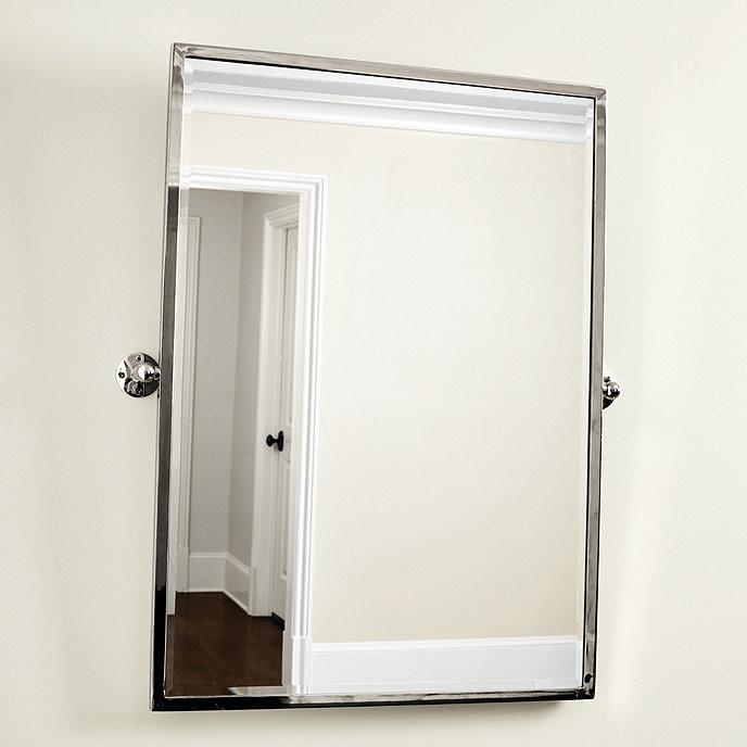 Pivoting Mirror Bathroom  Emmie Pivot Bath Mirror