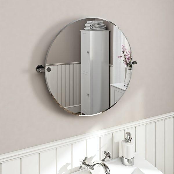 Pivoting Mirror Bathroom  The Bath Co Traditional round pivot bathroom mirror 500 x