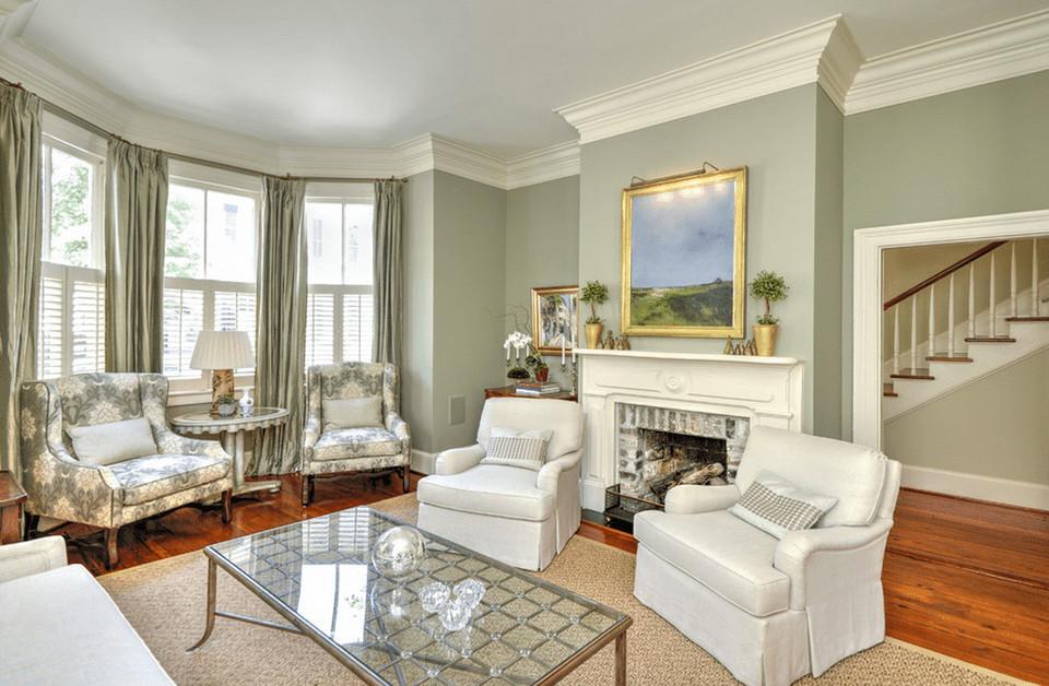 Popular Living Room Wall Colors  Green Living Room Ideas