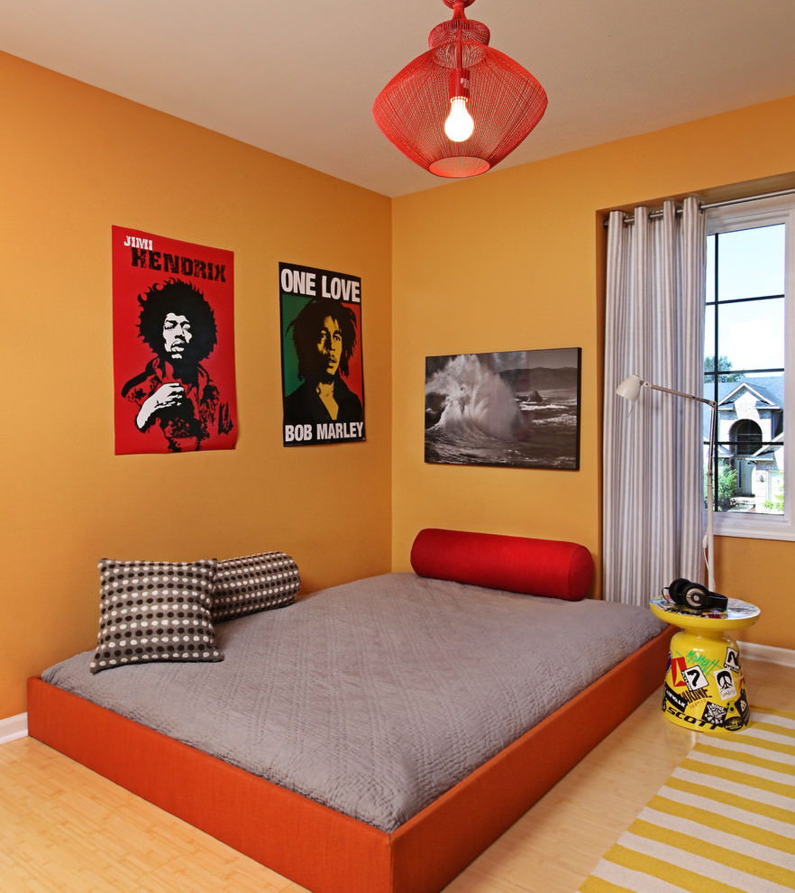 Red Kids Room  23 Kid's Room Lightning Designs Decorating Ideas
