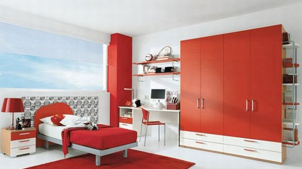 Red Kids Room  23 Modern Children Bedroom Ideas for the Contemporary Home