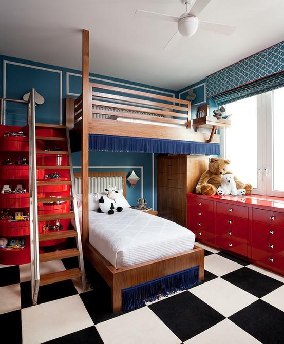 Red Kids Room  Bedroom Safety