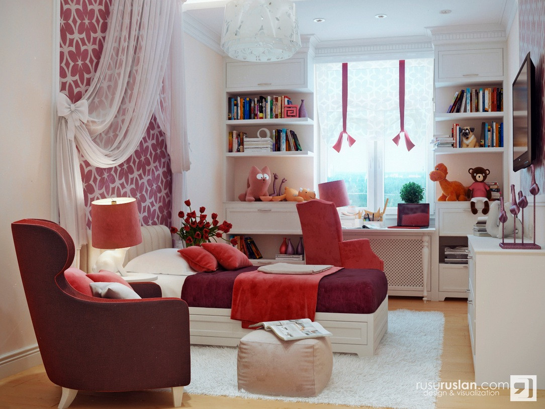 Red Kids Room  Colorful Kids Rooms