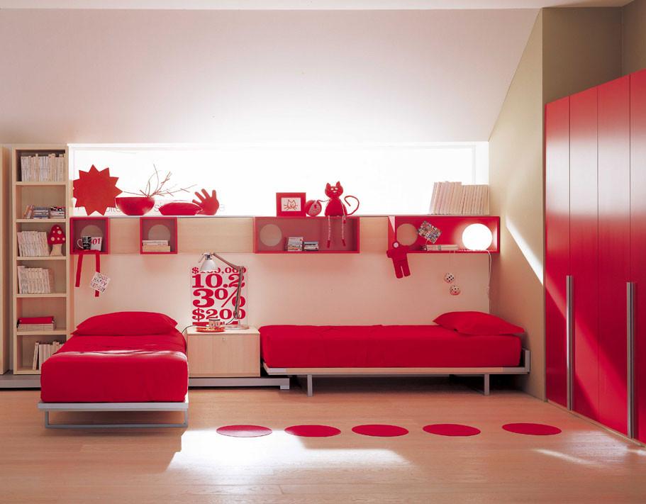 Red Kids Room  Red Kids room design