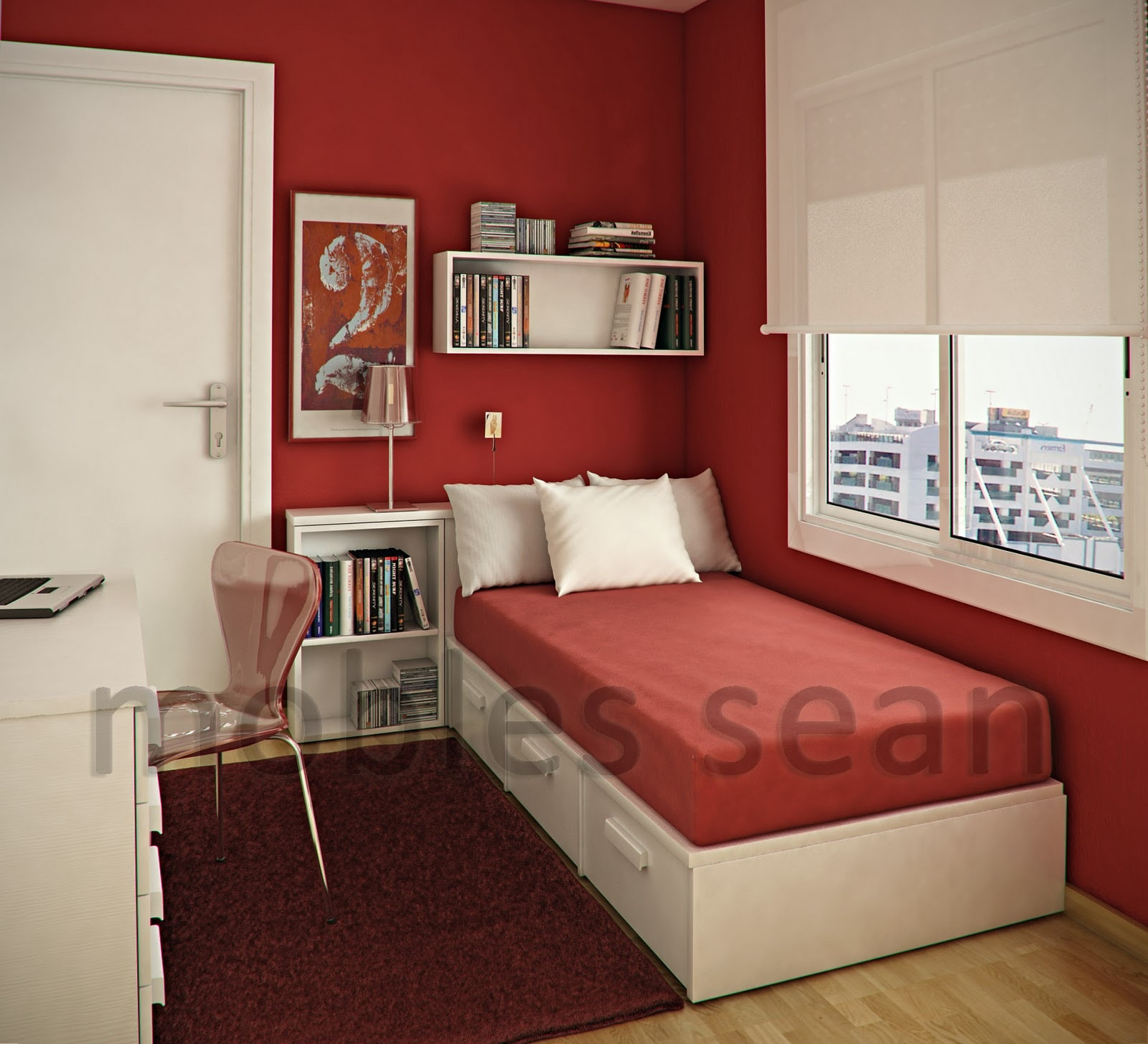 Red Kids Room  Space Saving Designs for Small Kids Rooms