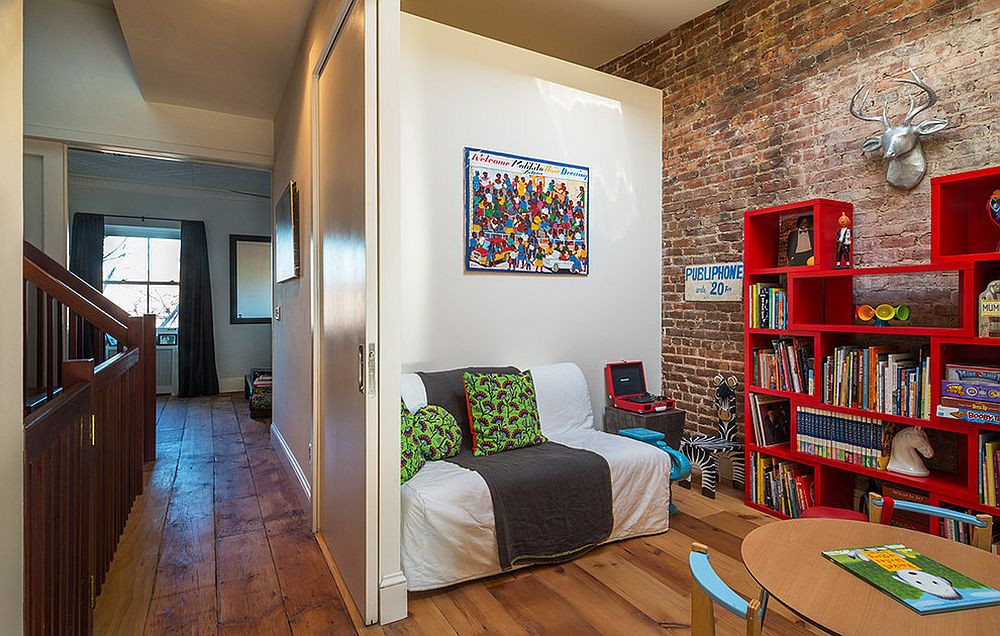 Red Kids Room  25 Vivacious Kids' Rooms with Brick Walls Full of Personality