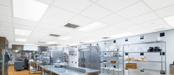 Restaurant Kitchen Ceiling Tiles  Armstrong Ceramaguard non perforated ceiling tiles