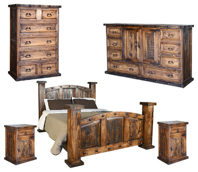 Rustic Bedroom Set King  Rustic Bedroom Set Rustic Bedroom Furniture Sets by