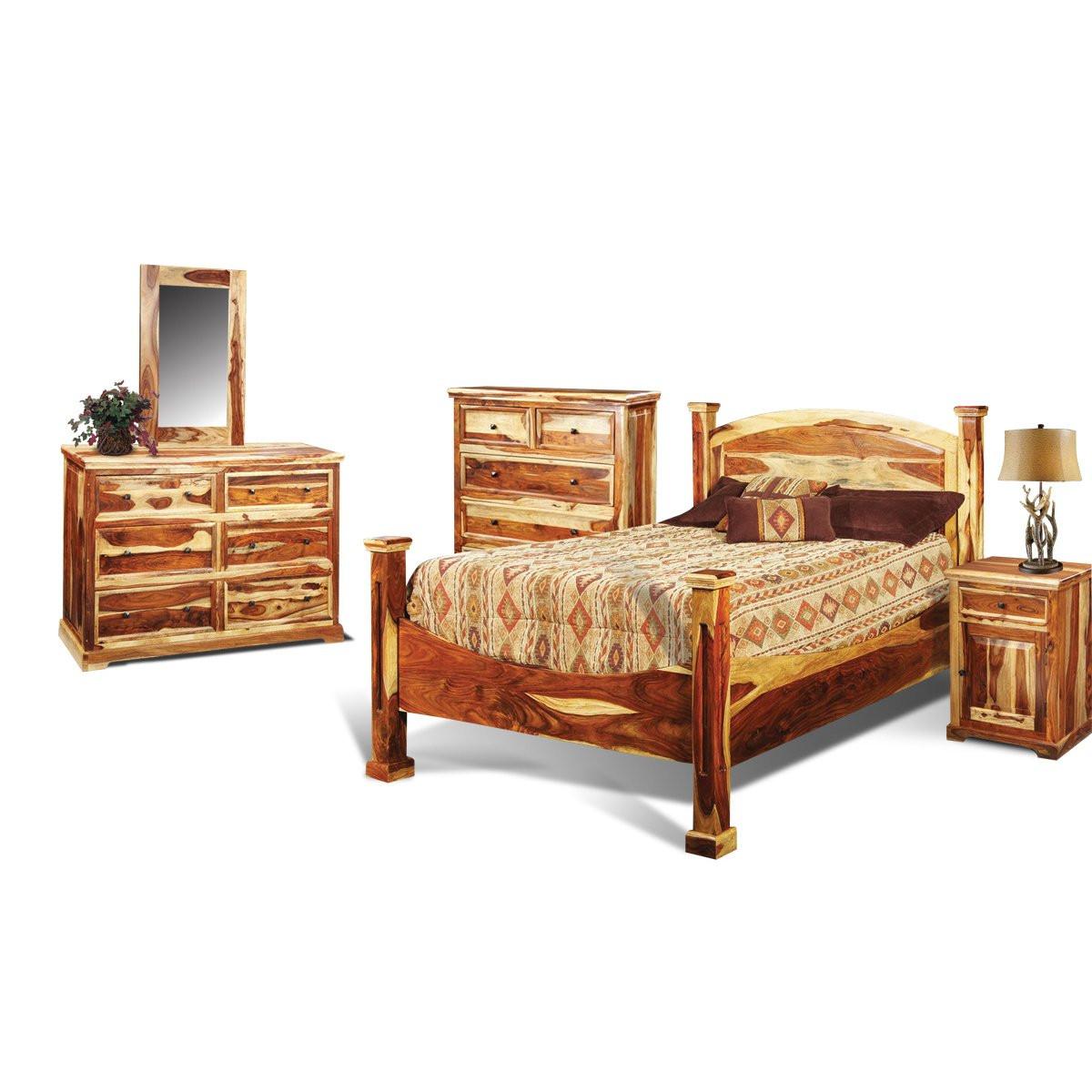 Rustic Bedroom Set King  Tahoe Pine Rustic 6 Piece King Bedroom Set