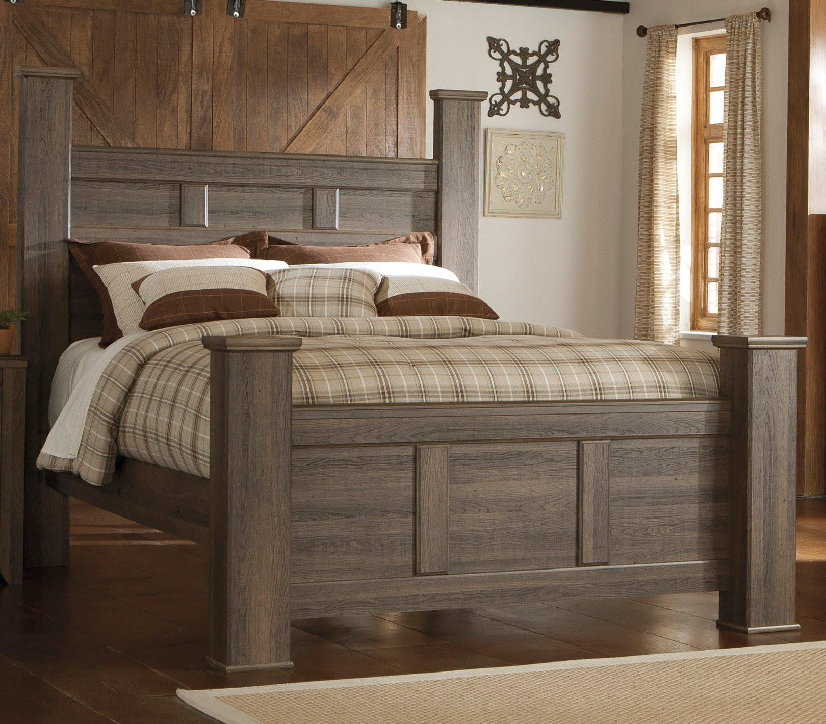 Rustic Bedroom Set King  Driftwood Rustic Modern 6 Piece King Bedroom Set Fairfax