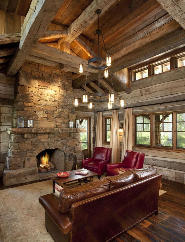Rustic Living Room Photos  229 best rustic living rooms dens images on Pinterest