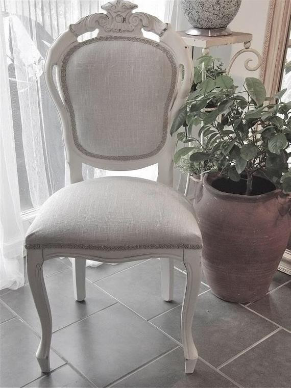 Shabby Chic Bedroom Chair  Shabby Chic French Style Bedroom or Dining Chair