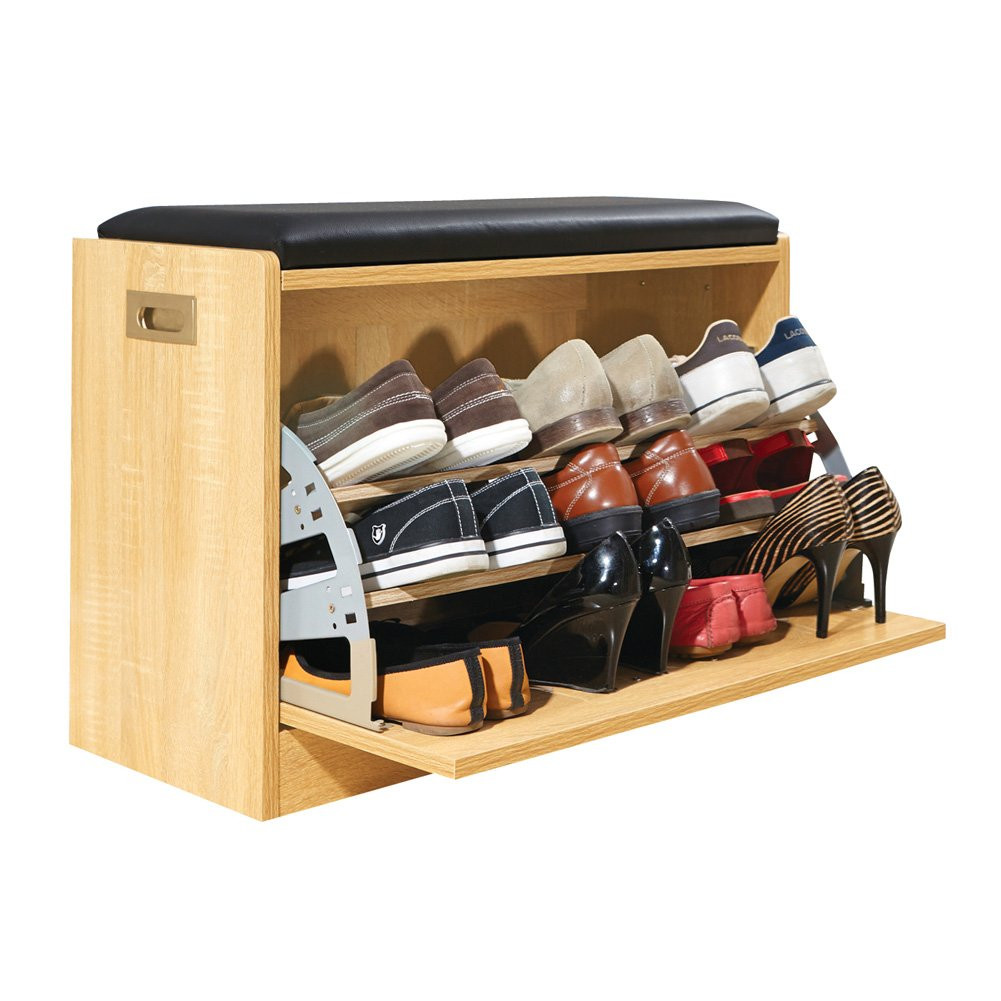 Shoe Storage Bench with Cushion Lovely Wood Shoe Storage Bench Cabinet Rack for Bedroom Entryway