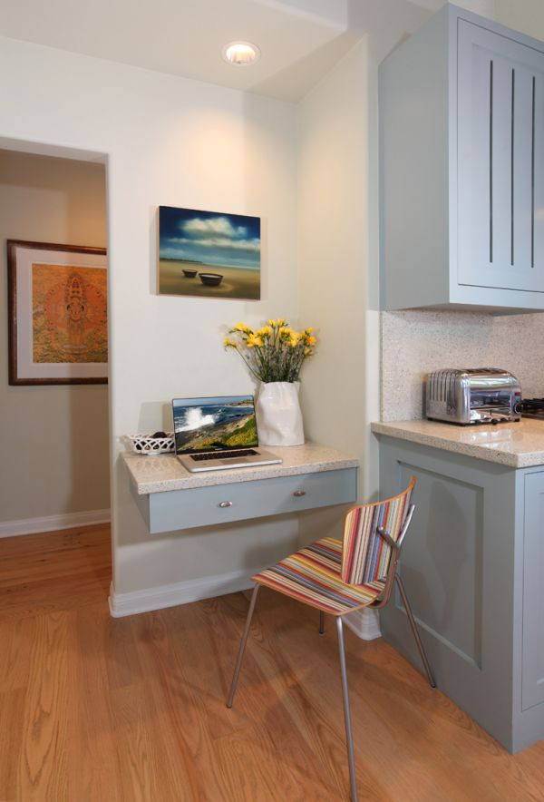 Small Kitchen Desk  20 Clever Ideas To Design A Functional fice In Your Kitchen
