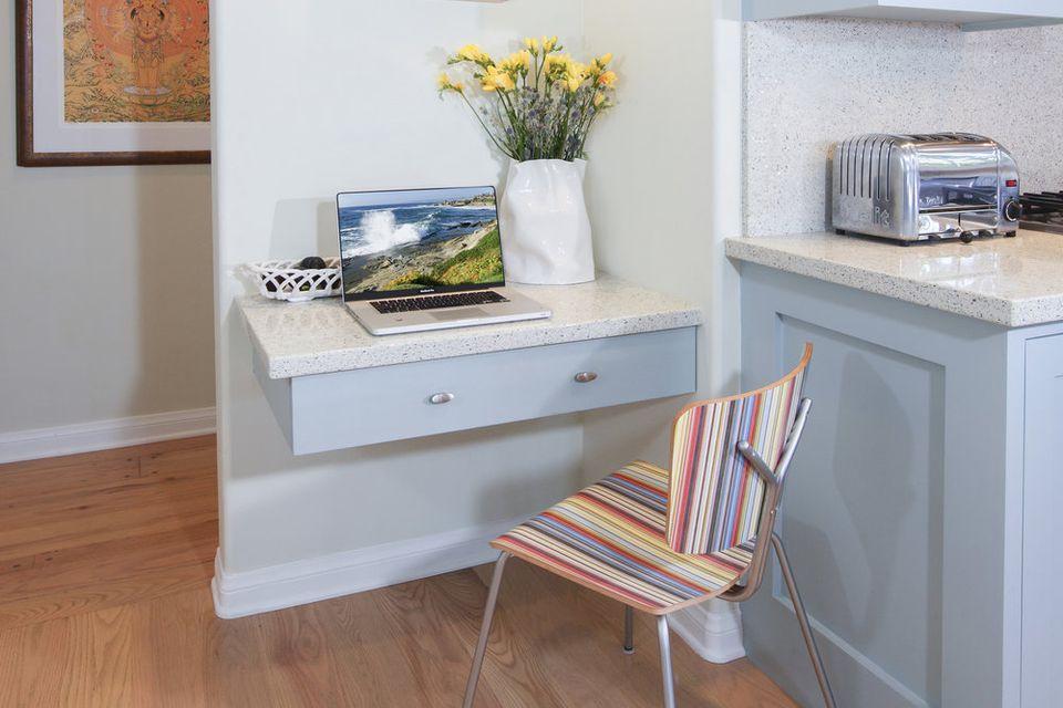 Small Kitchen Desk  21 Small Desk Ideas For Small Spaces