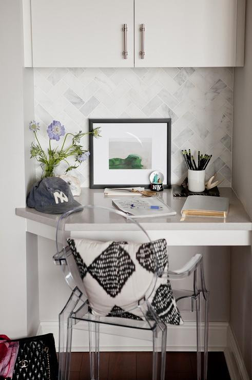 Small Kitchen Desk  Built In Kitchen Desk Design Ideas