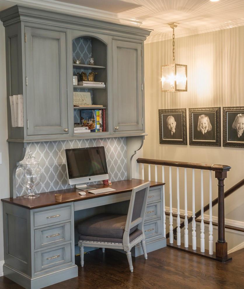 Small Kitchen Desk  chicago small kitchen desk ideas home office traditional