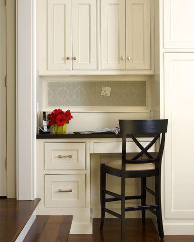 Small Kitchen Desk  Neat & tidy kitchen desk fice Nook Ideas