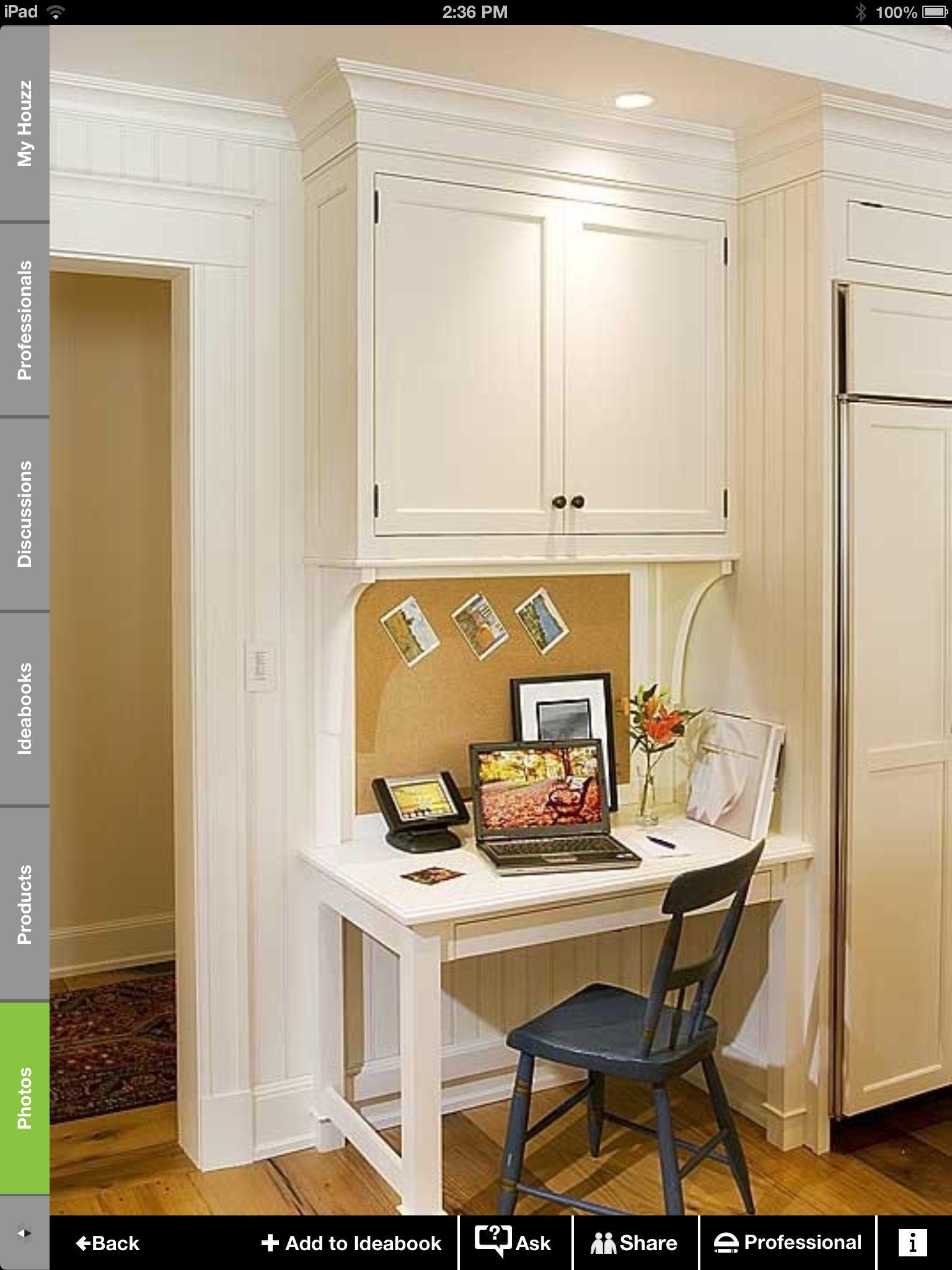 Small Kitchen Desk  Small kitchen desk Future Home Ideas