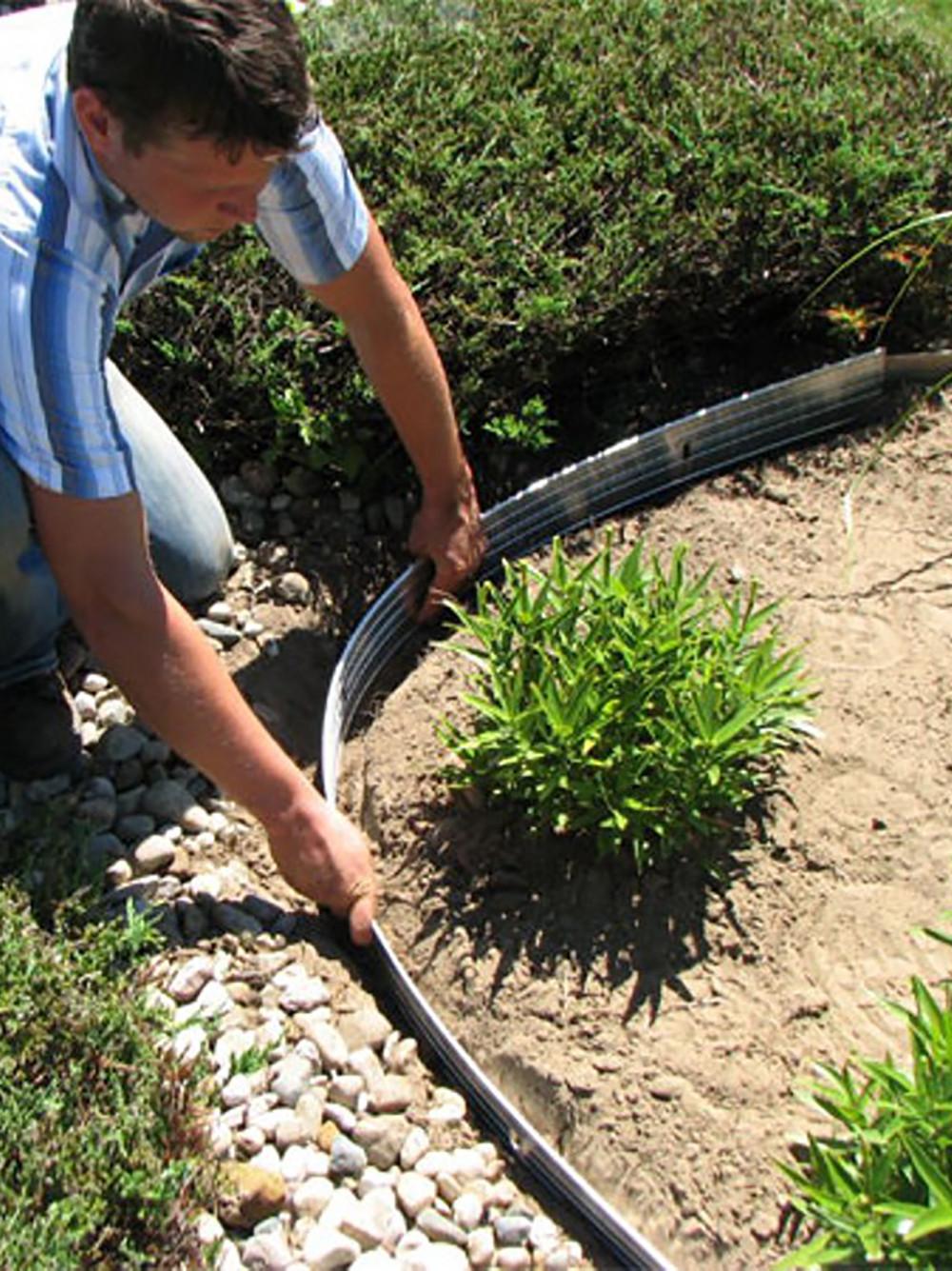 Steel Landscape Edging  Metal Garden Edging EasyFlex™ Aluminum Edging 24
