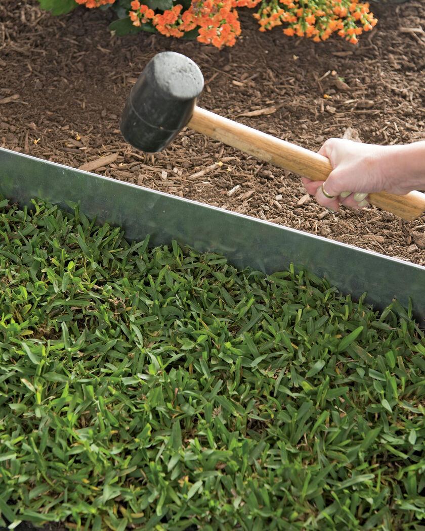 Steel Landscape Edging  Galvanized Steel Landscape Edging 4 ft Set of 4