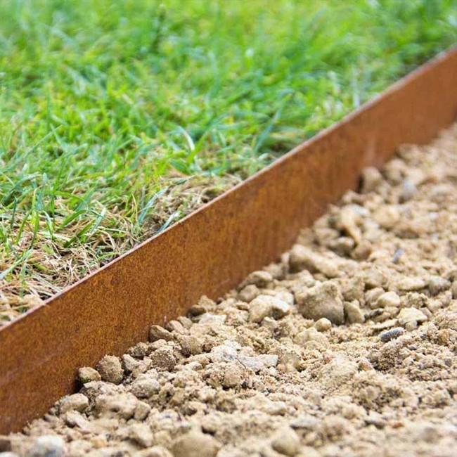 Steel Landscape Edging  Multi Edge Metal Garden Lawn Edging 175mm x 1mtr Corten