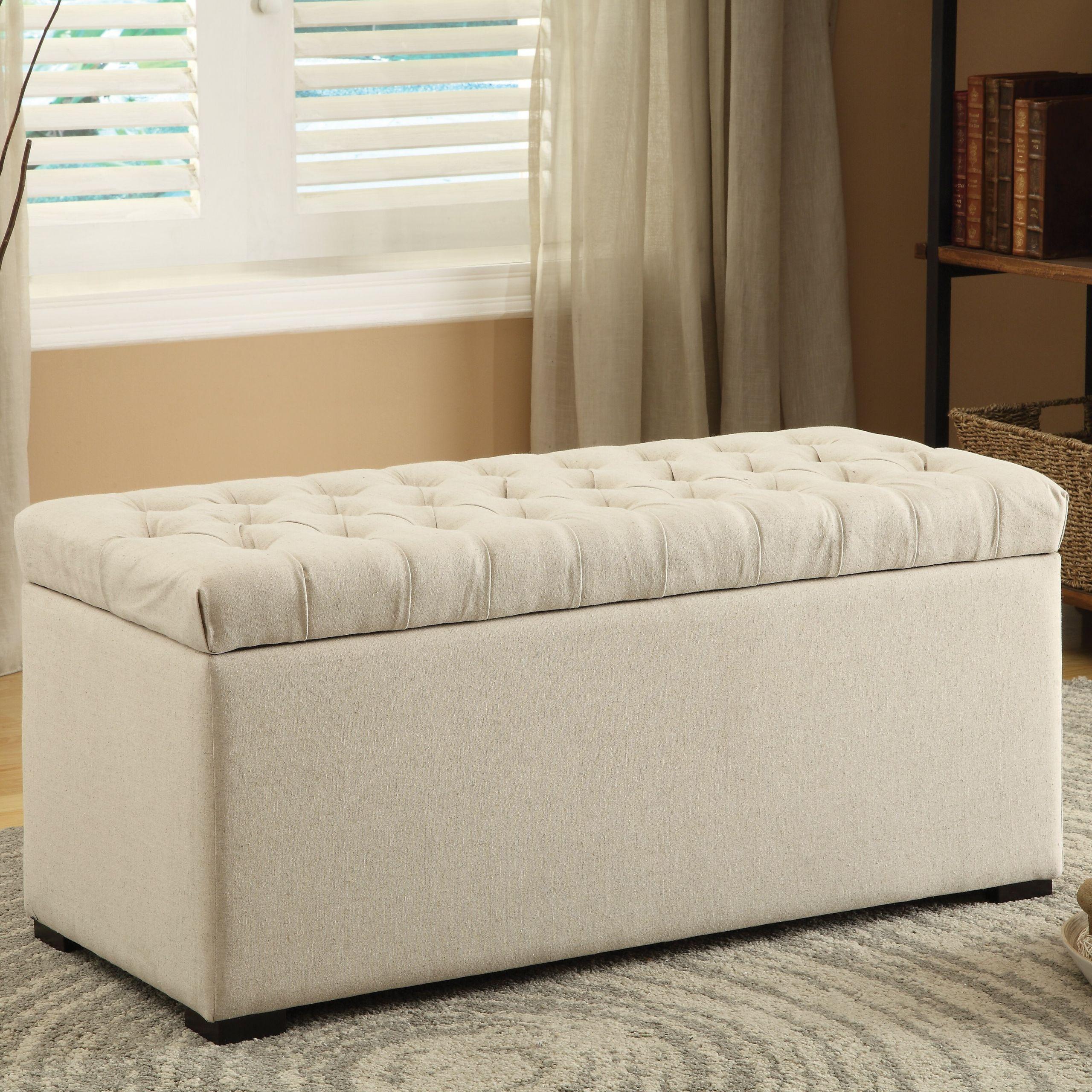 Storage Bench Bedroom  Charlton Home Taunton e Seat Wood Storage Bedroom Bench