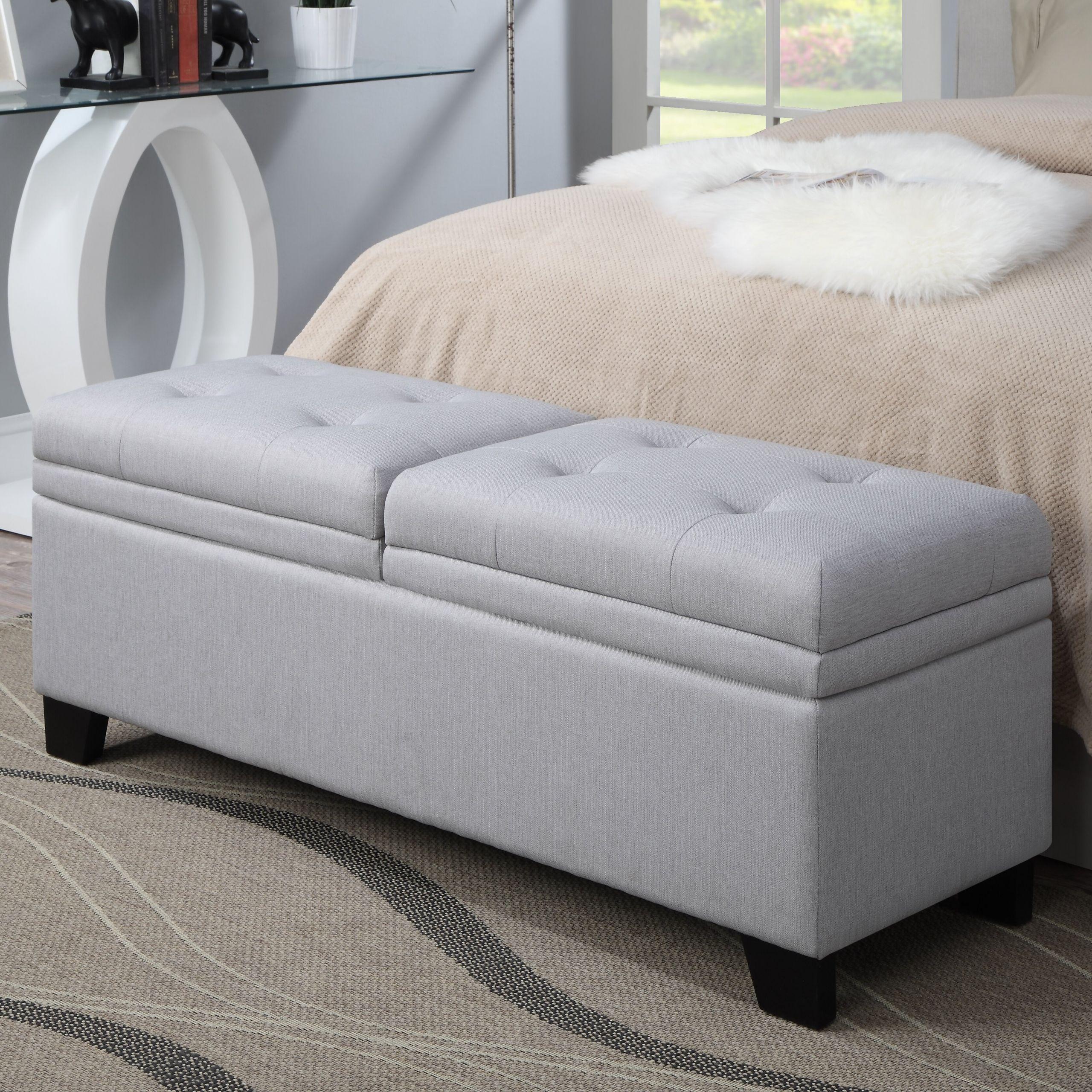 Storage Bench Bedroom  PRI Lilac Fields Upholstered Bedroom Storage Bench
