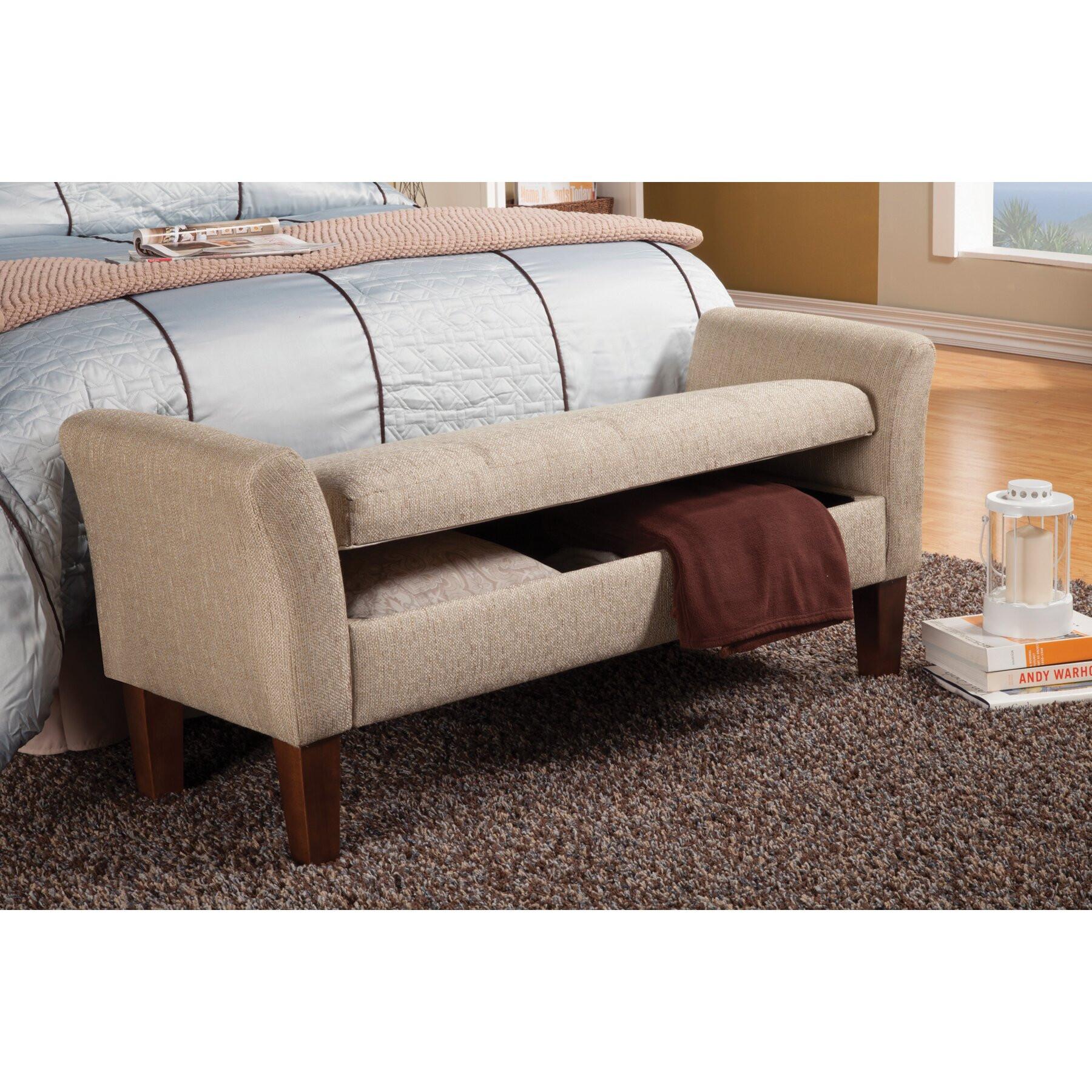 Storage Bench Bedroom  Wildon Home Upholstered Storage Bedroom Bench & Reviews