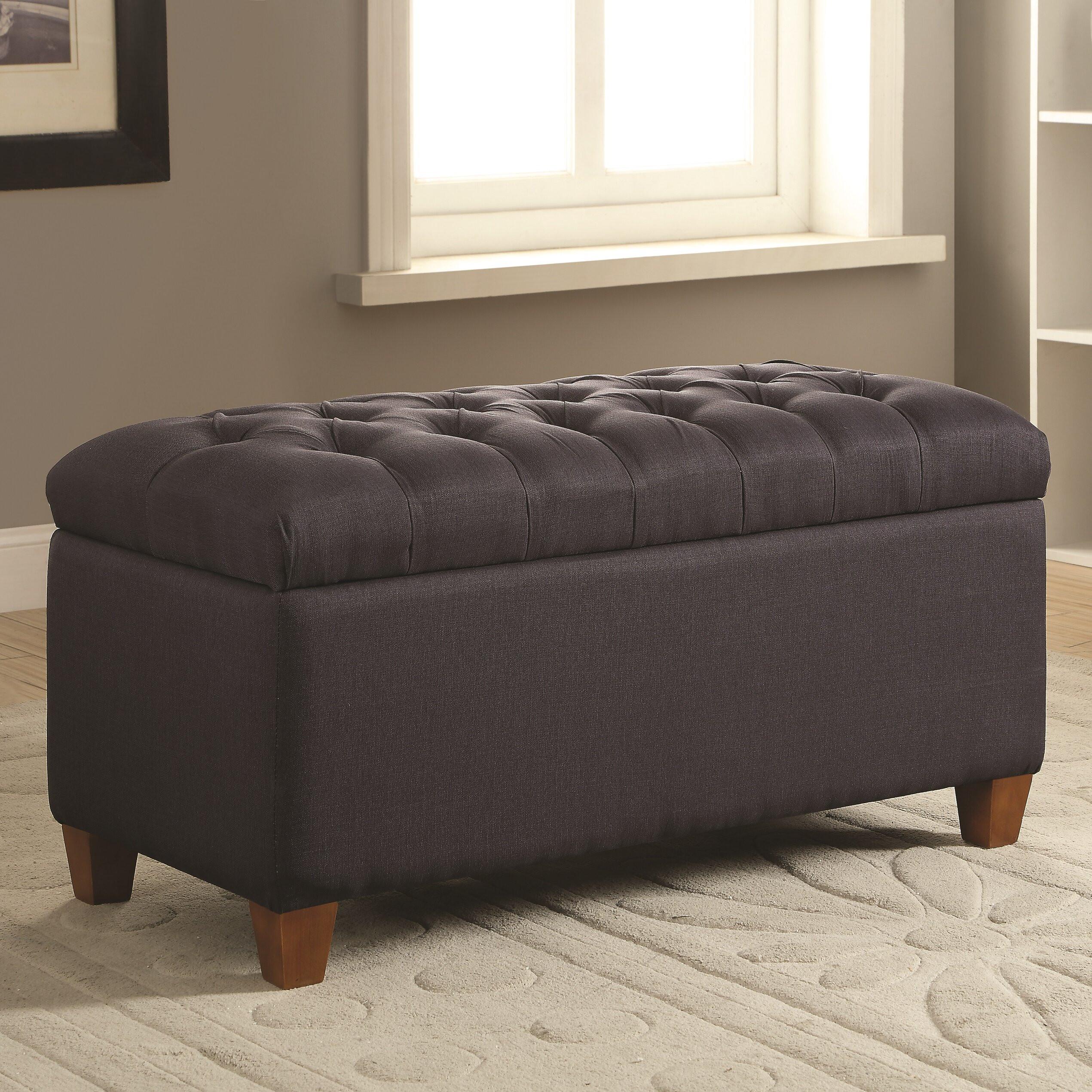 Storage Bench Bedroom  Alcott Hill Henderson Upholstered Storage Bedroom Bench