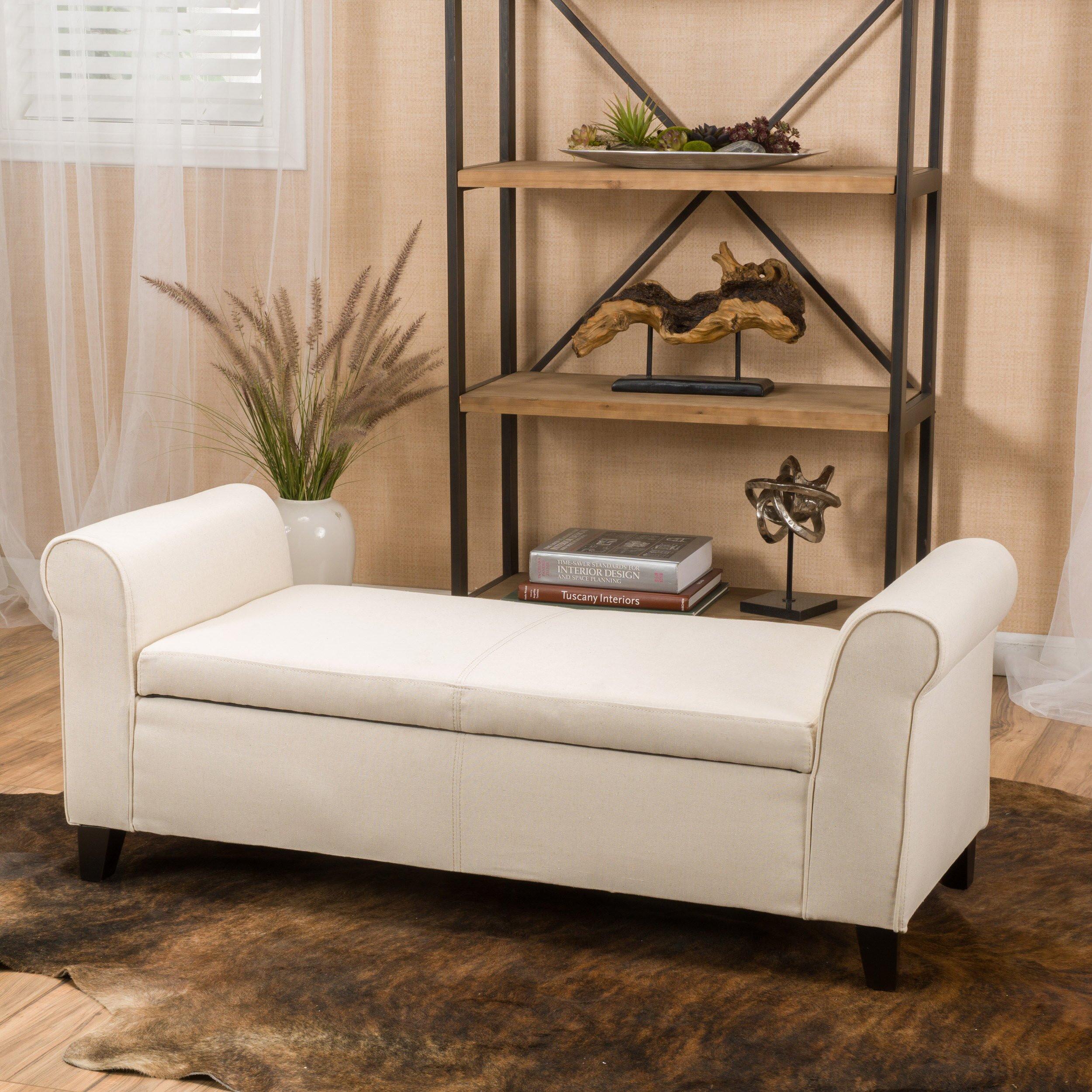 Storage Bench Bedroom  Alcott Hill Varian Upholstered Storage Bedroom Bench