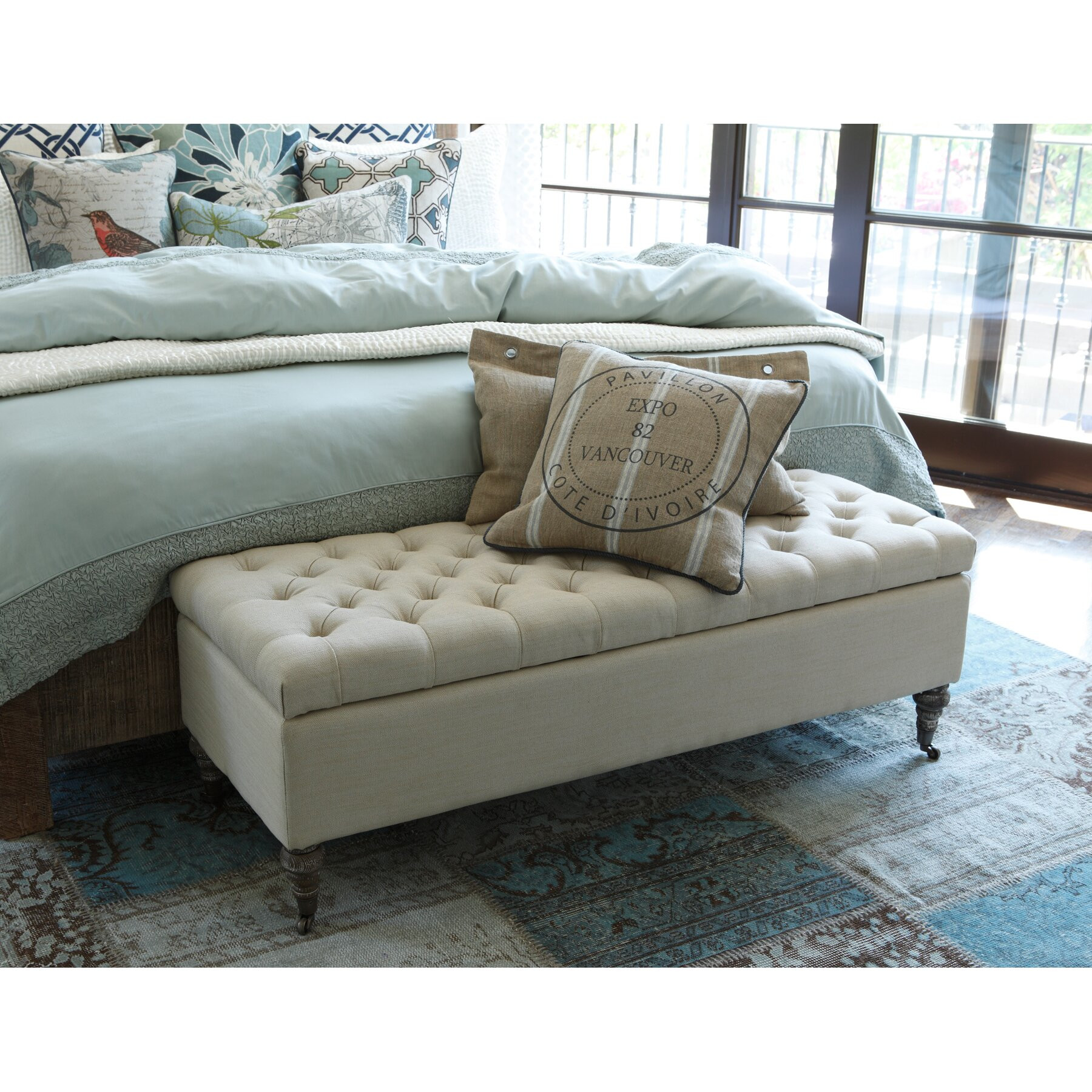 Storage Bench Bedroom  Kosas Home Fabric Storage Bedroom Bench & Reviews