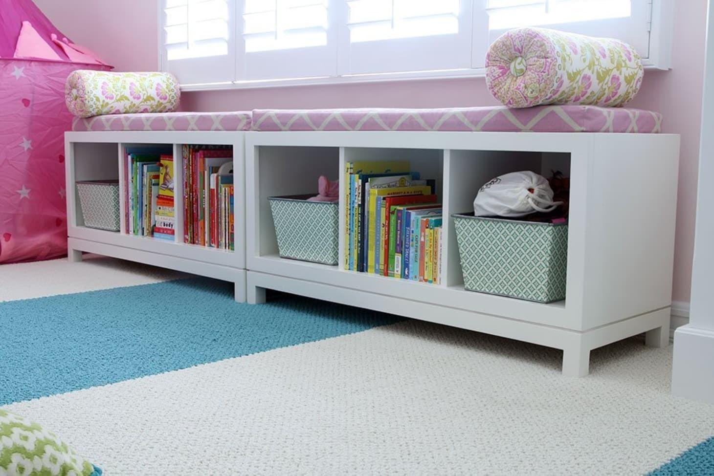 Storage Bench Kids  15 Cute Kids Room Organization & Storage Ideas Storing